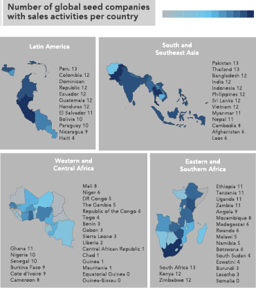 Growing company presence in Western and Central Africa, but still